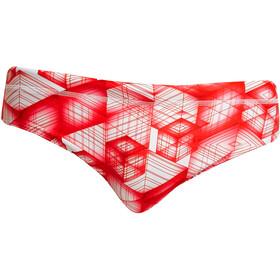 Funky Trunks Classic Zwemslip Heren, rood/wit